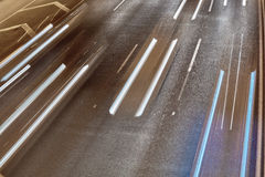 Car trails. On highway, Tel Aviv, Israel Royalty Free Stock Photography