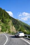 Car on Transfagarasan road, Romania Royalty Free Stock Images