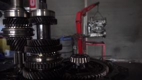 Car transmissions gears close up. 1920x1080. Very nice car transmissions gears close up video stock footage