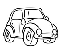 Car transport coloring page cartoon. Illustration isolated image stock illustration