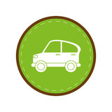 Car transport industry contamination icon green circle. Vector illustration eps 10 Stock Images