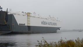 Car transport ship Stock Photos