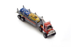 Car transport toy truck Stock Photo