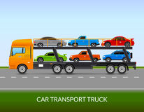 Car Transport Truck Illustration Royalty Free Stock Photography
