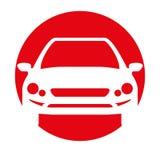 Car transport white silhouette icon Royalty Free Stock Photos