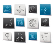 Car and transportation equipment icons Stock Image