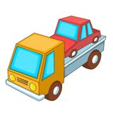 Car transportation icon, cartoon style Royalty Free Stock Photography