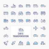 Car & Transportation Icon Set stock photography