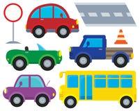 Car and transportation theme set 1 Stock Image