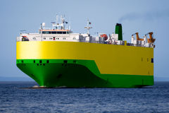 Car Transporter B2. Car Transporter underway at sea Stock Images