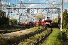 Car Transporter Train. I shoot this in Pisa, Italy Royalty Free Stock Photography