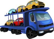 Car transporter. Vector illustration Stock Photo