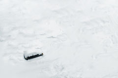 Car Trapped in Deep Snow Royalty Free Stock Images