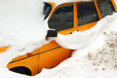 Car trapped under snow Stock Image