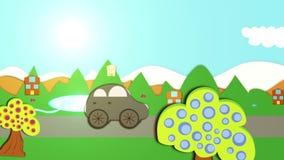 Car travel stock video