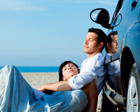 Car travel couple Royalty Free Stock Photos