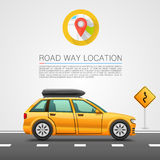Car travel on the location. Stock Images