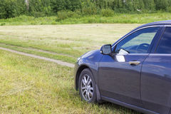 Car travel. The vehicle is in nature. Stock Images
