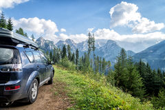 Car for traveling Stock Image