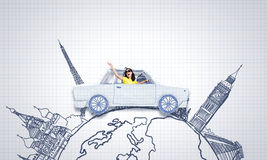 Car traveling Royalty Free Stock Photos