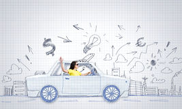 Car traveling Royalty Free Stock Photo
