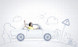 Car traveling Stock Photo