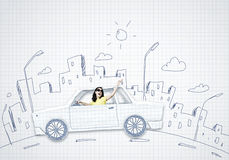 Car traveling Royalty Free Stock Photography