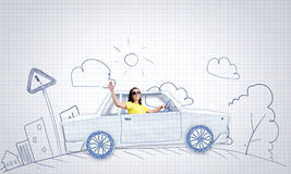 Car traveling Royalty Free Stock Images