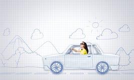 Car traveling Stock Photos