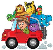 Car with traveller theme 2. Eps10 vector illustration vector illustration