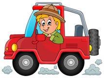 Car with traveller theme 1. Eps10 vector illustration stock illustration