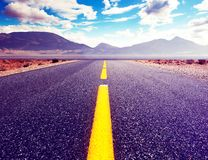 Country road background and colorful sunset landscape royalty free stock images