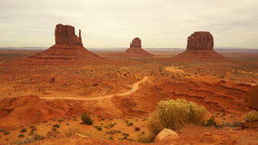 Car Travels Through Monument Valley Navajo Nation Tribal Park stock video footage