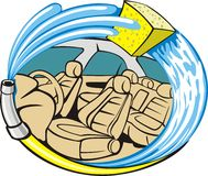 Car trim wash vector illustration