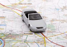 Car Trip. When a car trip is going to take place, the proper planning is necessary Stock Images