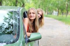Car trip royalty free stock photos