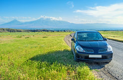 The car trip around Armenia. The best way to discover the remote corners of Armenia is to take a car trip, Ararat Province Royalty Free Stock Photos