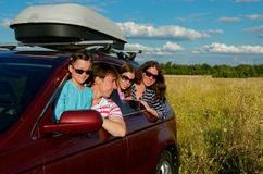 Car trip on family vacation Royalty Free Stock Photo
