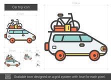 Car trip line icon. Stock Image