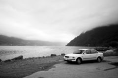 Car trip in Norway Royalty Free Stock Photo