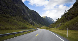 Car trip sight, Norway. Stock Photos