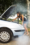 Car trouble Royalty Free Stock Photos