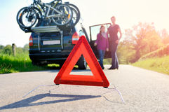 Car Trouble on a Holiday Trip Stock Photography