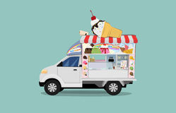 Car truck ice-cream Royalty Free Stock Image