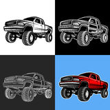 Car truck 4x4 pickup off-road. Vector illustration car truck 4x4 pickup royalty free illustration