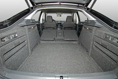 Car trunk. Empty car trunk with folded seats Stock Photos