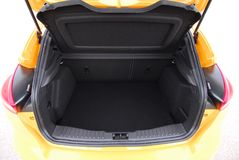 Car trunk. Empty trunk of the passenger car Royalty Free Stock Image
