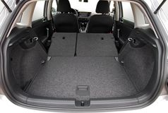 Car trunk. With rear seats folded Stock Images