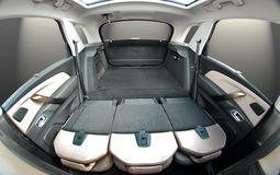 Car trunk with rear seats folded Stock Photography