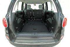 Car trunk with rear seats folded Stock Image